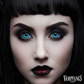 GOTHIKA Vampfangs™ Angelic Blue Contacts - Halloween Contact Lenses - Corrective Options - Premium Comfort