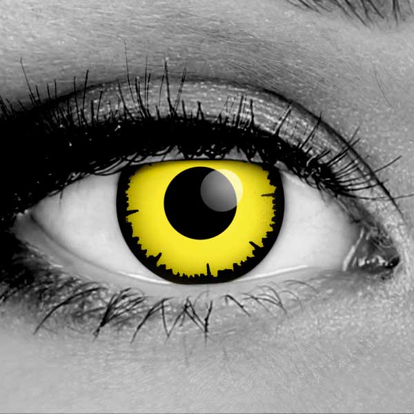 Vampfangs - Angelic Yellow Contact Lenses - Corrective Options - Premium CLS
