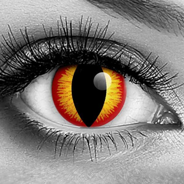 Vampfangs - GOTHIKA Cat Eye Banshee Contact Lenses - Halloween Vampire Contacts - Corrective Options - Trusted Since 1993