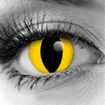 Yellow Cat Eye Contact Lenses by GOTHIKA - Vampfangs