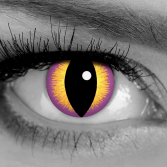 GOTHIKA Seducer Contact Lenses - Yellow and Purple Cat Eye Contacts