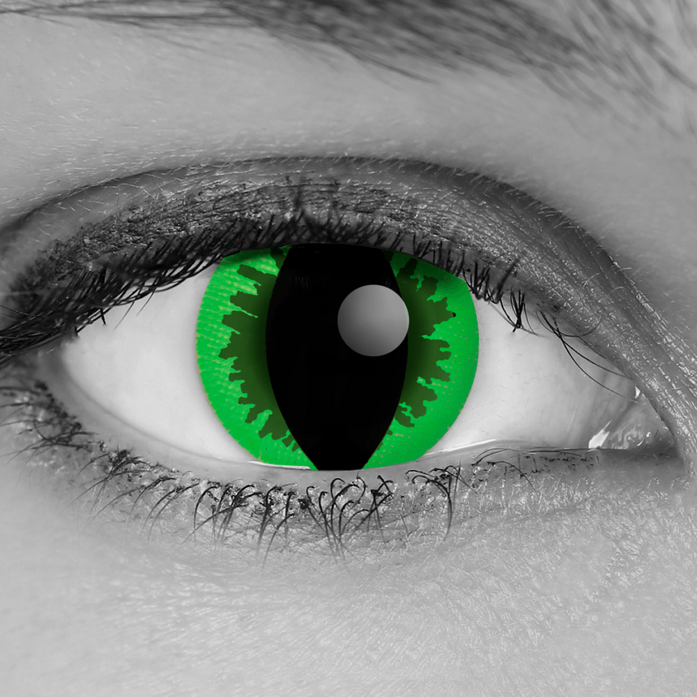 GOTHIKA Green Reptile Cat Eye Contact Lenses - Vampfangs