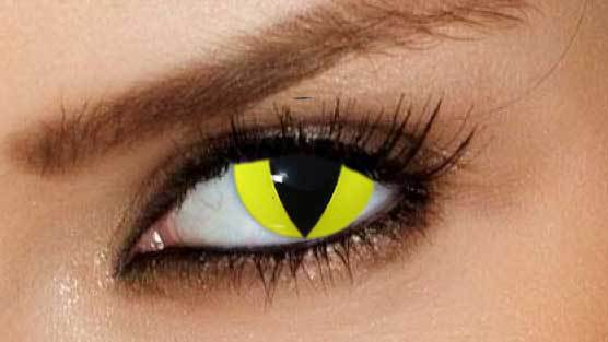 Yellow Cat Eye Contact Lenses by GOTHIKA – Vampfangs