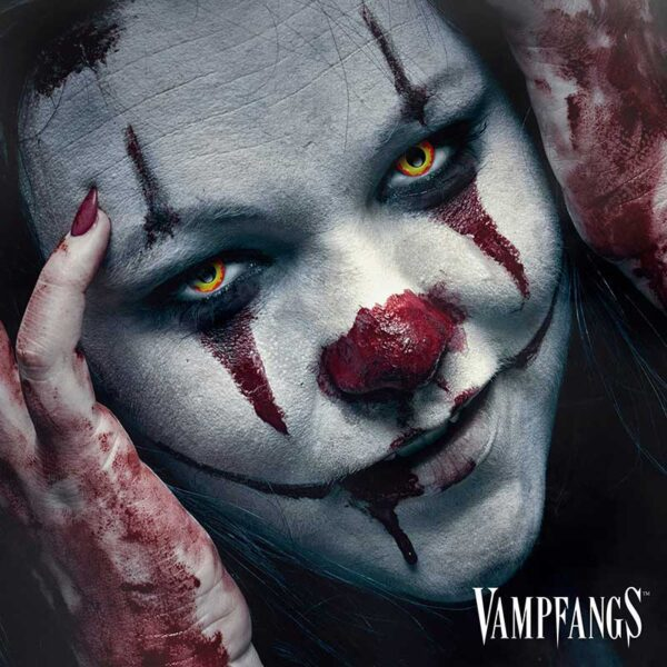 Pennywise Clown Gothika Contact Lenses - Red and Yellow - Vampfangs