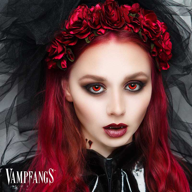 Vampfangs: Gothika Angelic Red Contact Lenses