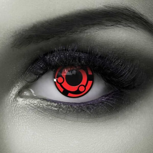 Vampfangs Red Madera Halloween contact lenses