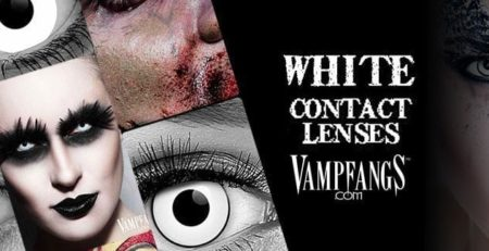 VAMPFANGS white CONTACT LENSES