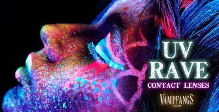 Glow in the Dark Contacts - UV Glow - Rave Contact Lenses - Vampfangs