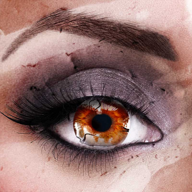 Vampfangs.com: Custom Toric Zombie Infection Contact Lenses - Corrective +/-20
