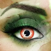 Vampfangs: Custom Toric Red Zombie Undead Contact Lenses - Corrective +/-20